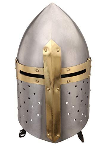 Deco 79 36200 Metal Crusader Helmet Can Be Clubbed with Small Decorative Items, 13