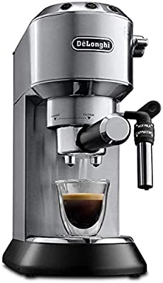 De'Longhi Dedica Style, Traditional Pump Espresso Machine, Coffee and Cappuccino Maker, EC685M, Silver