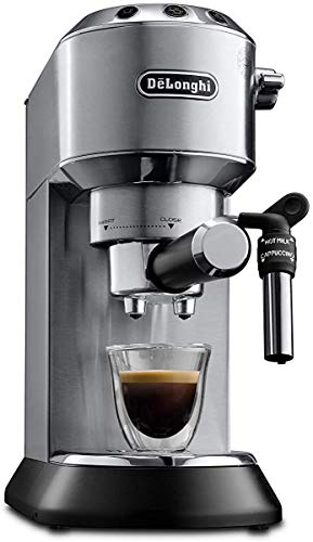 De'Longhi Dedica Style, Traditional Barista Pump Espresso Machine, Coffee and Cappuccino Maker, EC685M, Silver