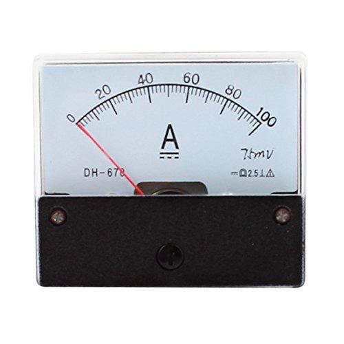 SODIAL(R) DC 100A Analog Panel Ampere Aktuellen Zaehler Amperemeter Messgeraet DH-670