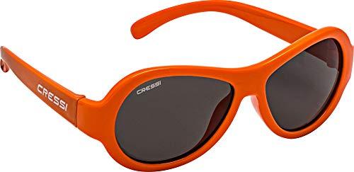 Cressi Scooby Kid's Sunglasses, Occhiali da Sole Unisex Bambino, Arancio/Lenti Fumè, 3-5 Anni