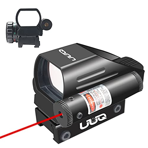 UUQ Tactical Holographic Red/Green Reflex Scope Sight 4 Reticles W/RED Laser