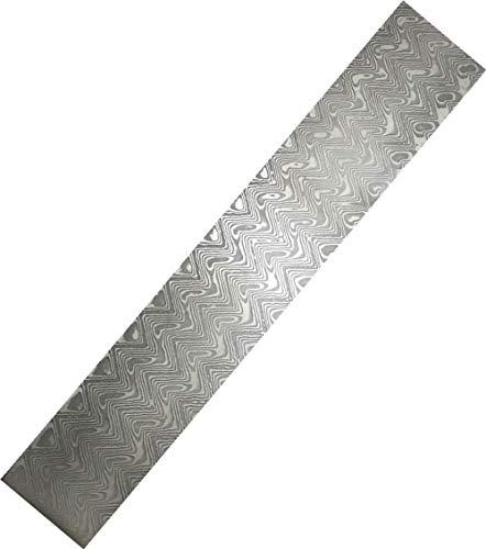 Aibote VG10 Custom Handmade Damascus Stainless Steel Bar Wave Pattern Blank Blade Billet for Knife Making|Jewelry Making|Cutlery Making and for Other Making Purpose (9.9'x1.38'x0.158')