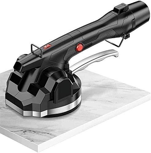Máquina embaldosadora inalámbrica de 12 V | Capacidad de Carga de 200 kg | máquina de vibración | para la colocación de Azulejos y revestimientos (Color : Black, Size : 1x2xBatteries)