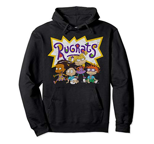 Nickelodeon Rugrats Vintage Group Shot Logo Pullover Hoodie