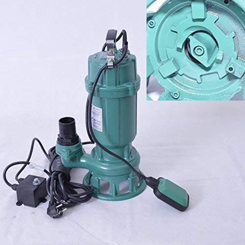 """!! Profi !! Fäkalienpumpe Tauchpumpe Schmutzwasserpumpe mit Schneidwerk 0,55 kW Anschluß Druckseite 2""""=5,02cm, Spannung 230V/50Hz, Kabellänge ca. 9,5 m."""
