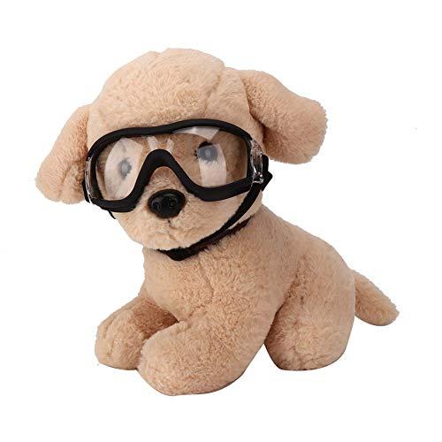 Gafas para Perros Transparentes para Mascotas Perro Gato Gafas de Sol a Prueba de Viento a Prueba de Agua Gafas Protectoras UV Protección para Los Ojos con Correa Ajustable para