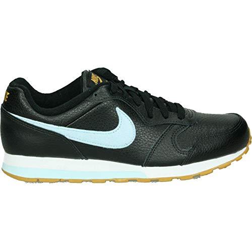 Nike MD Runner 2 FLT, Scarpe da Campo e da Pista Uomo, Multicolore Nero/Blu/Pelle Scamosciata Oro/Bianco (Black Celestine Blue Gold Suede White 001), 38 EU
