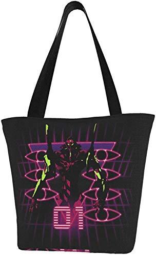 Eva Ayanami Rei Test Type 01 Bolso de la compra reutilizable bolsas de hombro bolsas para regalo de la escuela de compras, color, talla Talla única