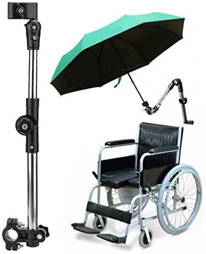 ASEDRF Rollstuhl-Regenschirm Adjustable Außen Regenschirm-Halter, Regenschirm-Verbindungshalter Steht, Für Rollstühle, Walker, Rollator, Fahrrad, Kinderwagen, Rollstuhl-Zubehör