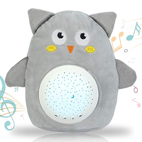 GRESATEK Baby Schlafhilfe Musik-Spielzeug mit 10 Beruhigenden Geräuschen Babys Nachtlicht Stern Projektor