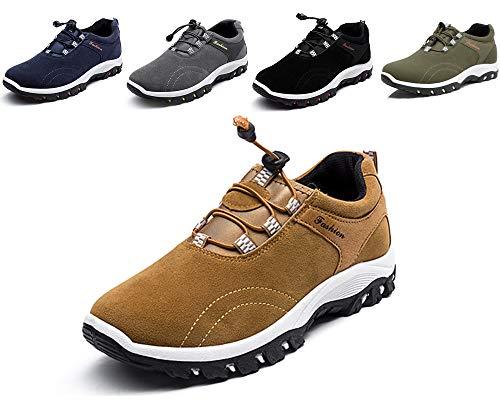 Zapatillas de correr para hombre y mujer, para el tiempo libre, caminar, trabajo, senderismo, entrenadores., color Amarillo, talla 41 EU