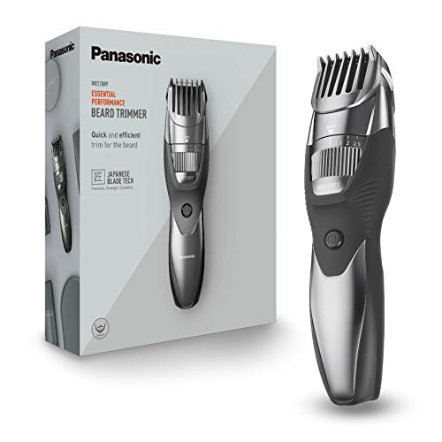 Panasonic ER-GB44-H503 Regolabarba Wet&Dry, Taglio di Precisione 0,5 - 10 mm, Lame in Acciaio Inossidabile, Pettine Accessorio, Lavabile, Ricaricabile, Grigio