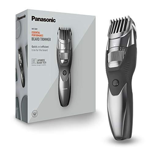 Panasonic ER-GB44-H503 Regolabarba Wet&Dry, Taglio di Precisione 0,5-10 mm, Lame in Acciaio Inossidabile, Pettine Accessorio, Lavabile, Ricaricabile, Grigio