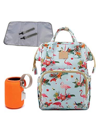 KHBHJ Bolsa De Pañales 4Pcs / Set Bolsa De Pañales Mochila De Viaje De Maternidad A Prueba De Agua Cuidado De Enfermería Cochecito De Impresión Bolso, Riqueza De Aves