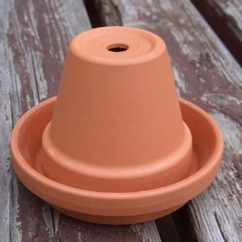 Mini-Aschenbecher, Blumentopf, Terrakotta, Durchmesser 8cm
