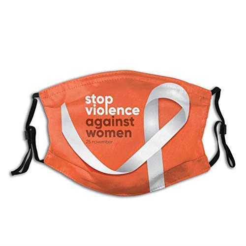 International Day For The Elimination Of Violence Against Women Face Mask Fashion Scarf, Breathable Reusable Washable Bandana With 2 Filters, For Men & Women