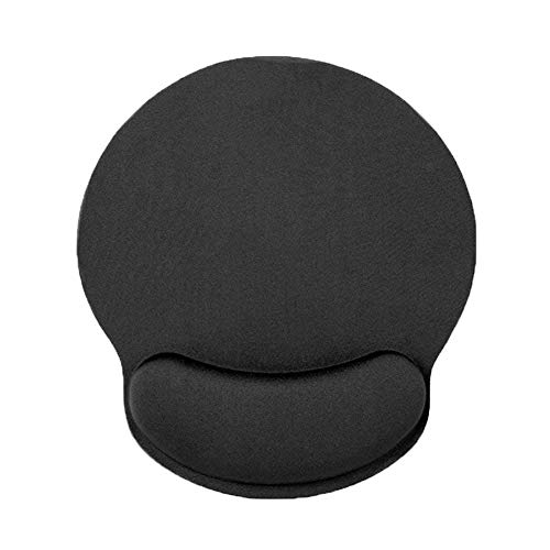 Mouse Pad with Wrist Support - Ergonomic Mouse Pad with Wrist Rest Support Gaming Memory Foam Mousepad Mat with Non Slip Rubber Base for Computer Laptop Home and Office (Black)
