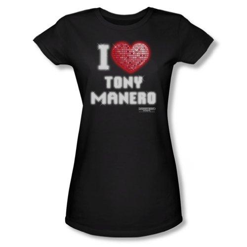 Saturday Night Fever-I Heart Tony-Maglietta, colore: nero nero Large