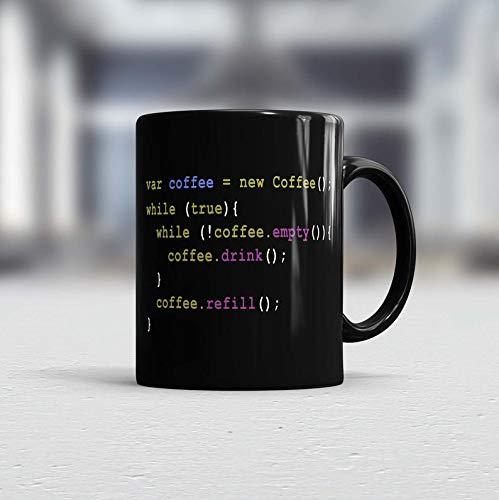 Taza de café programador, taza de café de oficina, regalo para Coworker, regalo de café, divertido, taza de café, taza de jefe, taza de oficina, taza de javascript