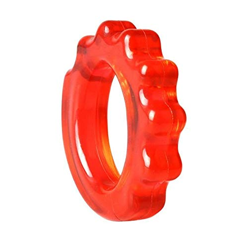 No logo Kppto Silikon-Finger-Stretcher-Widerstand-Band-Handgriff Trainer Handtrainer Stretch Übung Gummiband Rubber Grip Ring (Farbe : Rot)