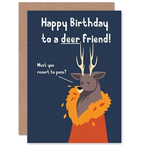 Wee Blue Coo Urodziny drogi przyjaciele staż wygnieciony nowa kartka podarunkowa z pozdrowieniami