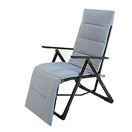 Chaise de Patio inclinable en rotin  Fauteuil inclinable verrouillable Zero Gravity Salon Jardin Pelouse  Chaise Longue d'extérieur surdimensionnée Pliante