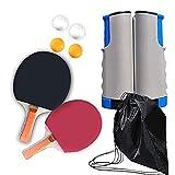 WLKQ Tischtennis Set Indoor Outdoor, Schläger, Ping Pong Set mit 2 Tischtennis Schläger   4...