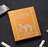 XIAOXIA Portable Smoking Set 20 grueso cuadrado personalidad tallada Camel Lotus cigarrillo caso impermeable Flip aluminio cigarrillo caso