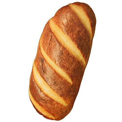 Levenkeness 3D Simulation Bread Shape Plush Pillow,Soft Butter Toast Bread Food Cushion Stuffed Toy...