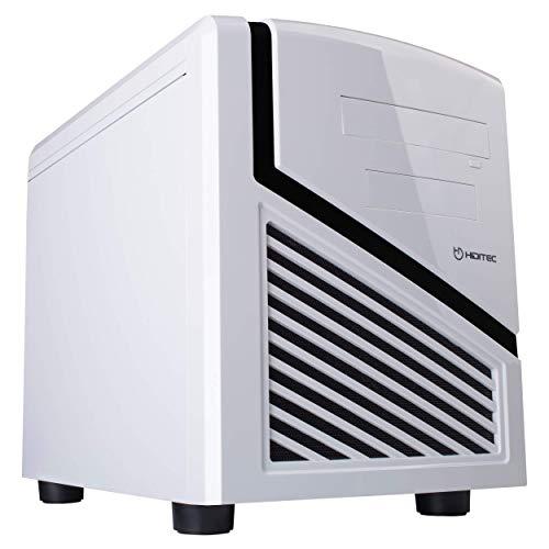 Hiditec   Caja de Ordenador Blanca Snow Kube Formato Micro ATX   Mini Torre de PC   Carcasa de Acero SECC   Gran Refrigeración   Configuración de Alto Rendimiento   Chasis de Sobremesa Blanco