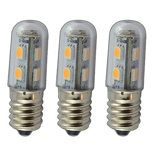 3x E14 LED 1,5-3 Watt warmweiß Leuchtmittel Lampe Glühbirne Birne für Nähmaschinen, Kühlschränke, Nachttischlampen uvm. (E14-1,0 Watt)