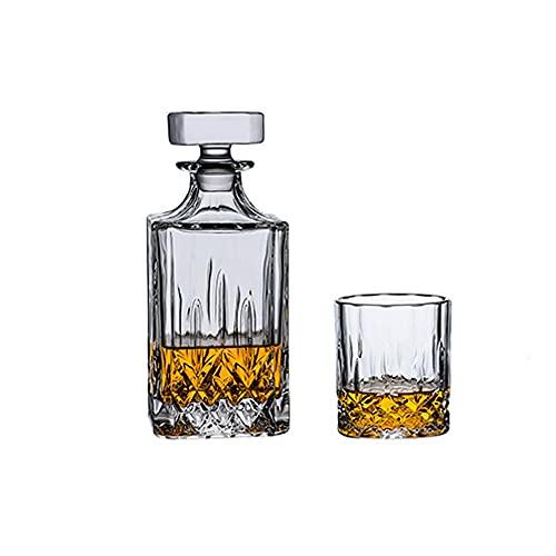 Decantador Light Luxury Whisky Botella de vino extranjero Botella de vino Conjunto de caja de regalo de Decantador de vino tinto conveniente Adecuado para cumpleaños Cabada de casa de boda o regalos d