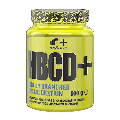 4+ NUTRITION - HBCD+, Integratore Sportivo, Carboidrati, Indicato per un Esercizio Fisico Intenso e Prolungato, in Polvere, 600 gr