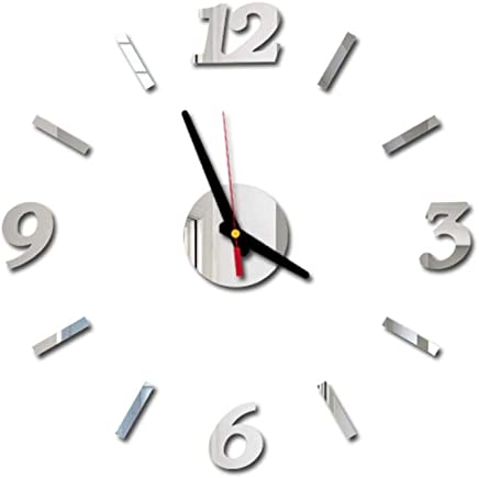 Lubity Horloge Murale 3d Diy Design Moderne Pendule Murale