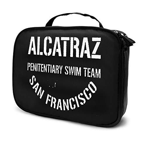 Alcatraz - Bolsa de maquillaje para el equipo de natación, organizador de cosméticos, neceser para lavado de manos, bolsa de viaje