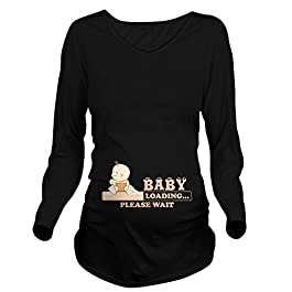 CafePress Baby Loading Long Sleeve Maternity Maternity Tee