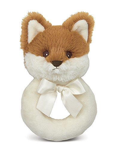 Bearington Baby Lil  Fritz Plush Stuffed Animal Fox Soft Ring Rattle 5.5