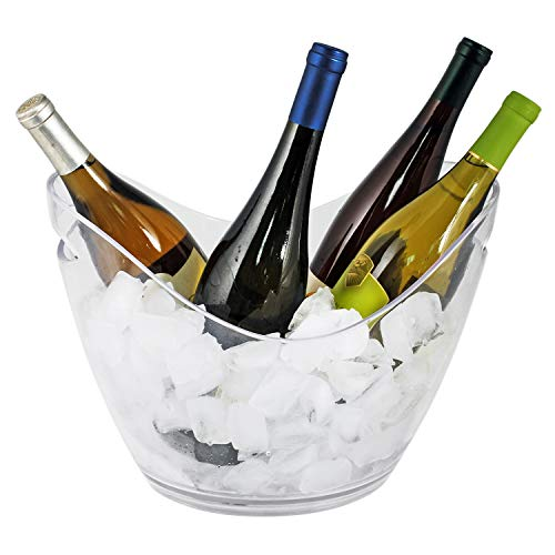 True glass ice bucket