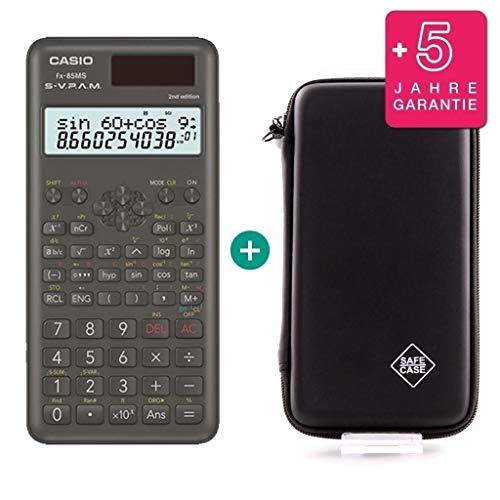 Casio FX-85MS 2 + SafeCase Schutztasche + Garantieverlängerung auf 60 Monate