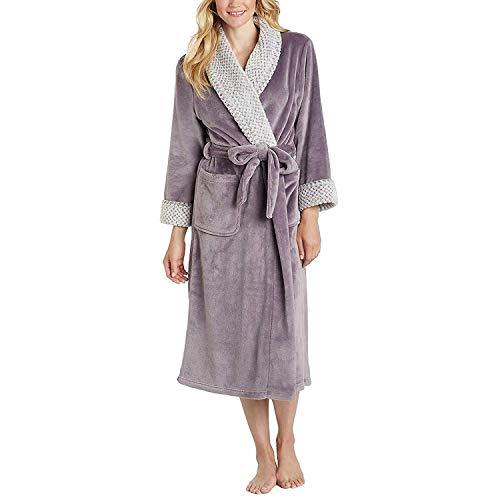 Carole Hochman Women's Plush Wrap Robe (Plum, Medium)