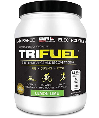 TRIFUEL - 3-in-1 Endurance and Recovery, Hydration, BCAA, Electrolyte Enhanced Drink (Lemon Lime)
