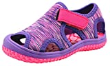 Apakowa Kids Girls Boys Lightweight Quick Dry Sandals Outdoor Sports Water Shoes (Toddler/Little Kid) (Color : Purple, Size : 10 M US Toddler)