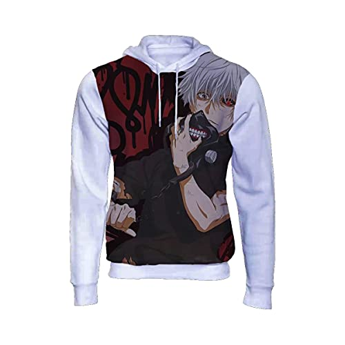 Moletom Blusa De Frio Ken Kaneki Anime Tokyo Ghoul Full 147 Branco Tamanho: 8; Cor: Branco