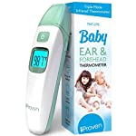 iProven Digital Forehead Thermometer for Babies, Kids and Adults - Baby Forehead and Ear Thermometer - with Mute Function and Object Mode - Quick and Accurate Readings - TMT-215 Green