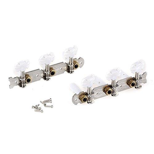 Musiclily Pro 3+3 Clavijas de Afinación Clavijero de Repuesto para Guitarra Clásica, Boton Mariposa Níquel