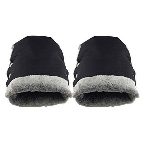 Guantes de cochecito de invierno - Guantes de cochecito de bebé anticongelantes gruesos con material de algodón (Color: Negro)