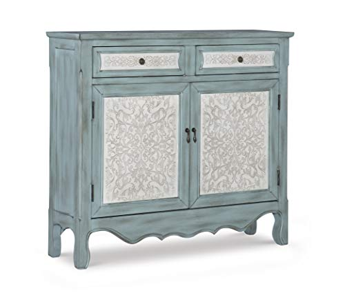 Powell Antique Console, Blue/White