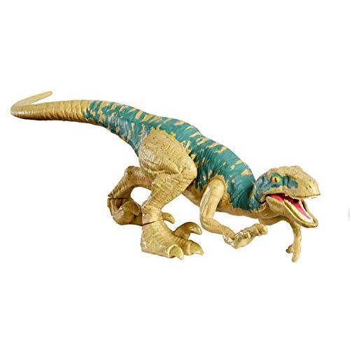 Jurassic World- Velociraptor Echo Dinosauro Azione & Attacco, Giocattolo per Bambini 4 + Anni, GFG60