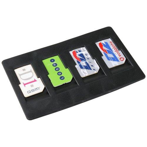Simkartenhalter Halter Aufbewahrung Box für 4 SIM Karten für Arcor Twintel